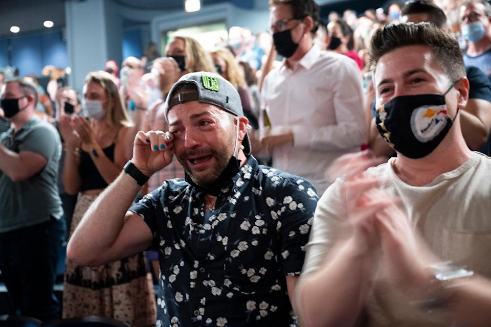 <p>Some audience members were emotional over the long-awaited return. </p>