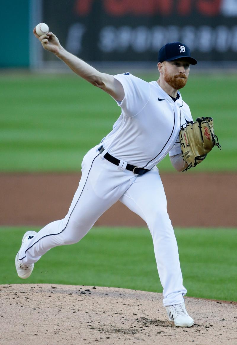 Detroit Tigers' Spencer Turnbull pitches against the Cleveland Indians during the second inning at Comerica Park on Sept. 19, 2020.