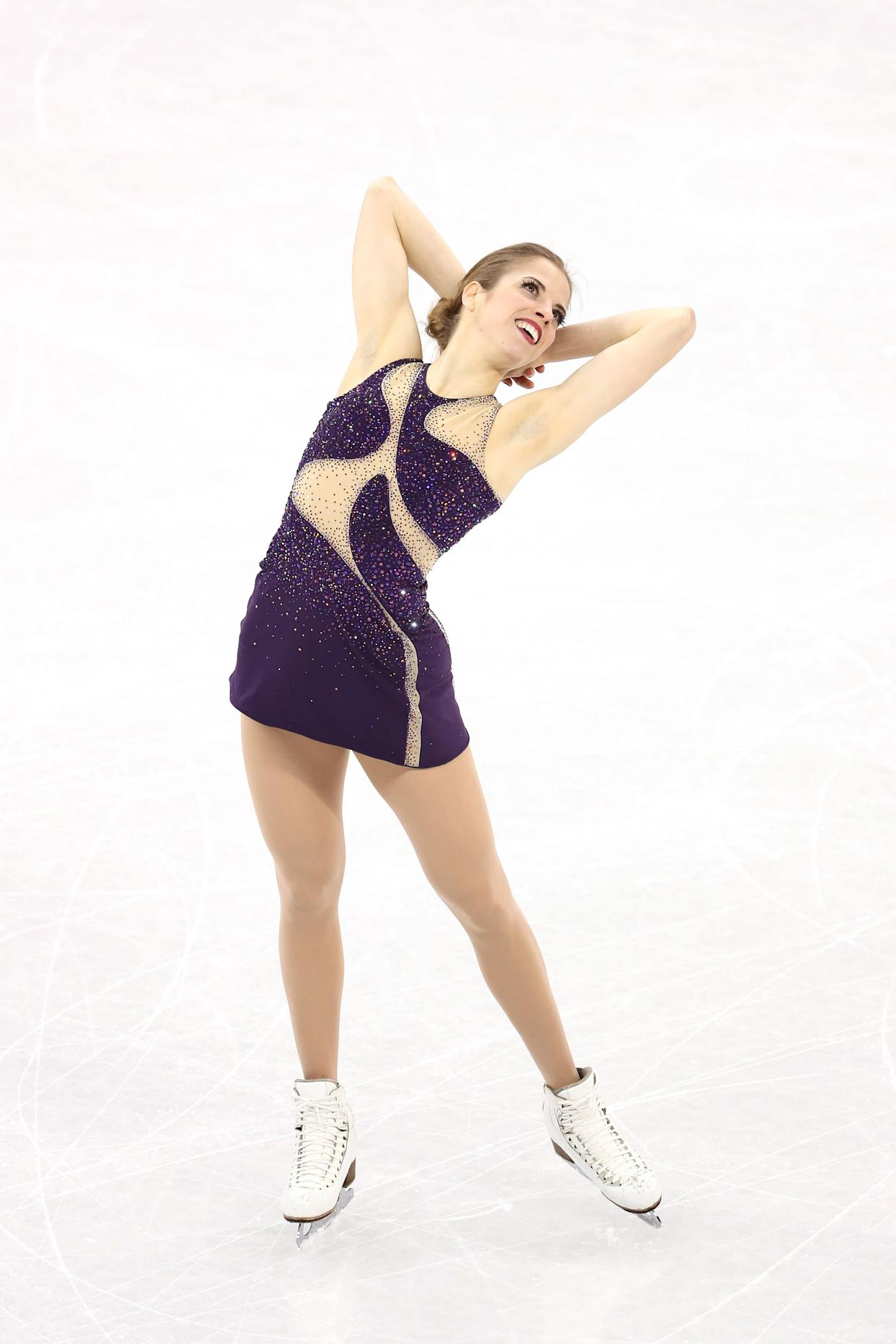 Kostner, of Italy, was one of the most stunning skaters to watch on the ice -- she is an Olympic vet, after all. She wore this funky cutout costume for her free skate during the ladies single event.