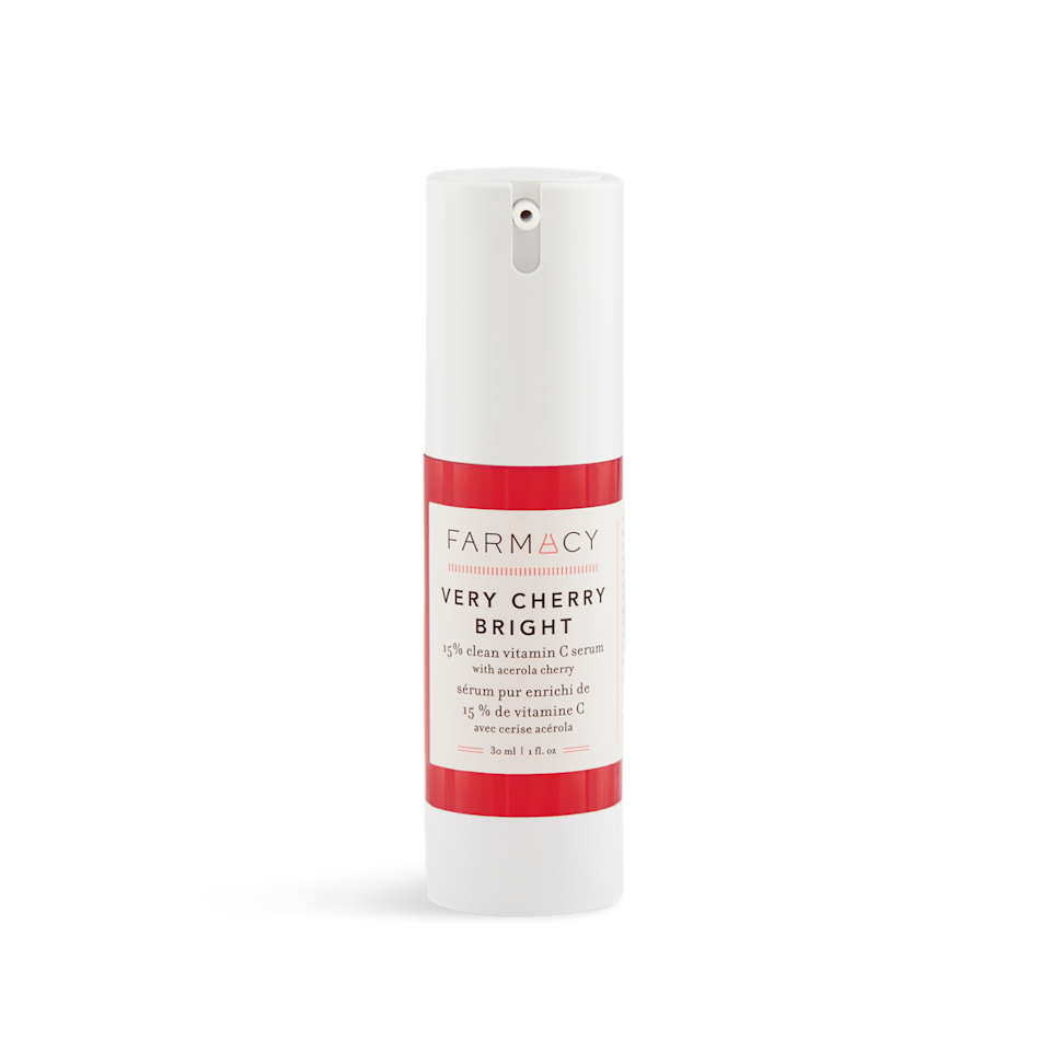 """<p>Clean beauty brand <a href=""""https://www.allure.com/review/farmacy-green-clean-makeup-meltaway-cleansing-balm?mbid=synd_yahoo_rss"""">Farmacy</a> products centered around ingredients such as honey and echinacea, but this serum marks its first foray into fruit-forward skin care. Acerola cherry makes up the bulk of the vitamin C, and it also contains three other vitamin C derivatives and hyaluronic acid for a brightening, face-firming effect.</p> <p><strong>$62</strong> (<a href=""""https://shop-links.co/1682094157483289449"""" rel=""""nofollow"""">Shop Now</a>)</p>"""