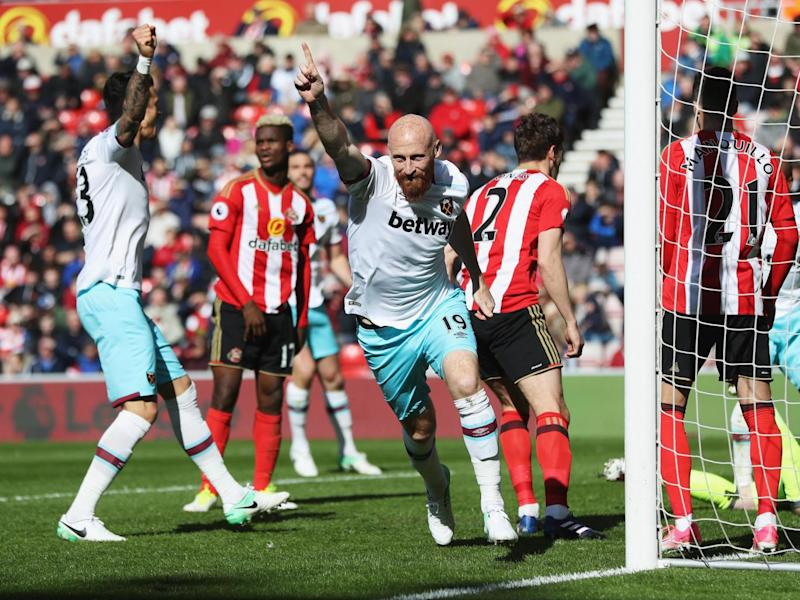 Collins put West Ham back in front (Getty)