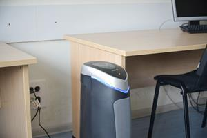 Installed in all classrooms and indoor public areas