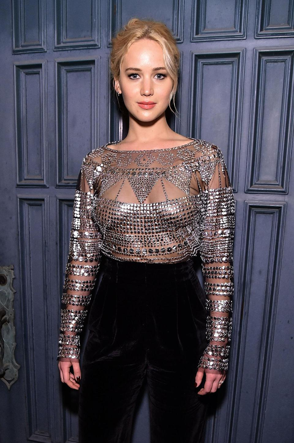 """<p>Jennifer Lawrence <a href=""""https://www.youtube.com/watch?v=VXx126QIVJg"""" rel=""""nofollow noopener"""" target=""""_blank"""" data-ylk=""""slk:loves pizza"""" class=""""link rapid-noclick-resp"""">loves pizza</a> as much as we love Jennifer Lawrence. Her <a href=""""http://www.etonline.com/news/188382_jennifer_lawrence_favorite_headline_about_herself_involves_pizza/"""" rel=""""nofollow noopener"""" target=""""_blank"""" data-ylk=""""slk:favorite headline"""" class=""""link rapid-noclick-resp"""">favorite headline</a> ever written about herself is 'Look How Much Pizza Jennifer Lawrence Ordered,'"""" and this is a woman who has been nominated for four Oscars. And yes, her greatest culinary invention <span>involves pizza. </span><span>Lawrence explained the """"Chili Pizza Sandwich"""" to <a href=""""https://thescene.com/watch/glamour/glamour-cover-stars-jennifer-lawrence-tells-it-like-it-is"""" rel=""""nofollow noopener"""" target=""""_blank"""" data-ylk=""""slk:Glamour"""" class=""""link rapid-noclick-resp""""><em>Glamour</em></a><span>: """"You have a piece of pizza, you put chili in it with noodles, like southern chili with noodles, and then another piece of pizza, and then you eat it like a sandwich."""" </span></span></p>"""