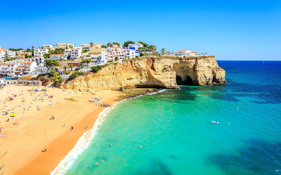 A beach on the Algarve in Portugal - GETTY