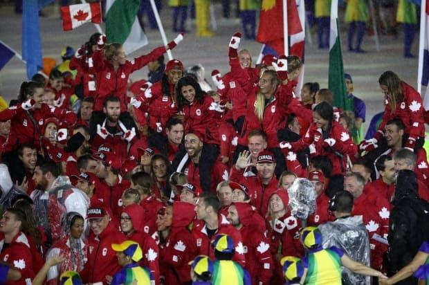 Canada is taking371 athletes to the Tokyo Olympics, the country's largest Games contingent since Los Angeles in 1984. At the 2016 Rio Olympics, pictured, 314 Canadians competed. (Patrick Smith/Getty Image - image credit)