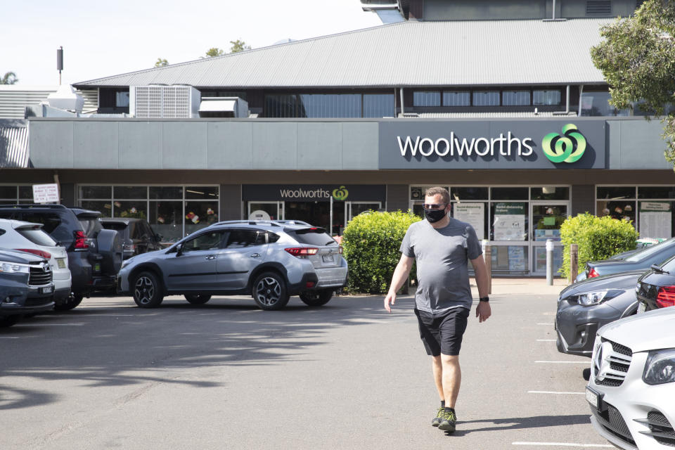 Man walks out of a Woolworths store. Source: Getty Images
