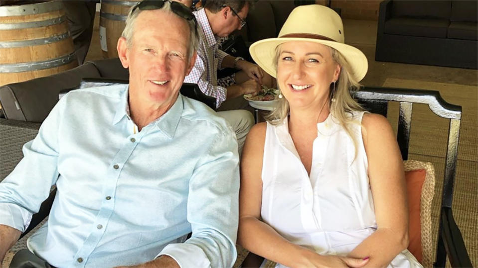 Wayne Bennett, pictured here with partner Dale Cage.