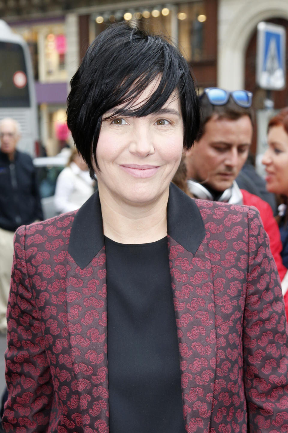 Sharleen Spiteri arrives to attend Stella McCartney's ready-to-wear Spring/Summer 2014 fashion collection, presented Monday, Sept. 30, 2013 in Paris. (AP Photo/Francois Mori)