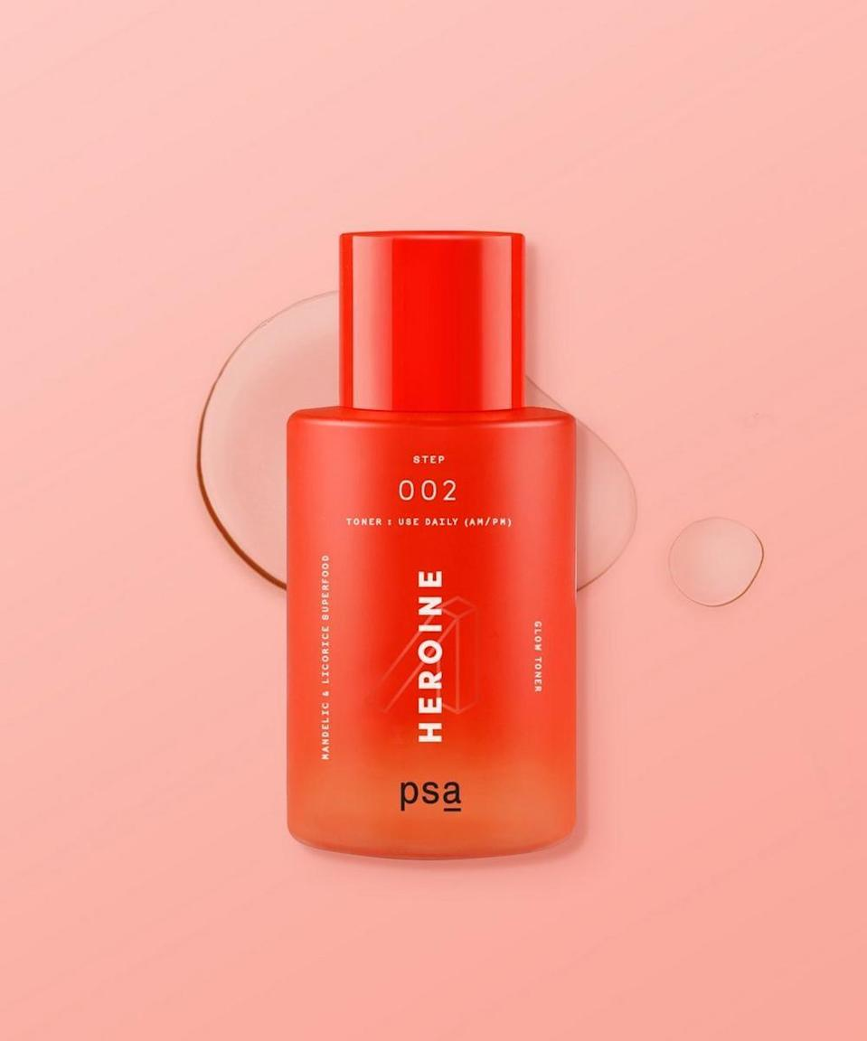 <p>PSA Skin is LGBTQ+ founded and they are donating 10% of proceeds from affiliate sales to the Trans Lifeline through the month of June.<span>PSA Skin Heroine </span> ($29) is a mandelic and licorice refining toner that will brighten dark spots, calm the skin, and heal blemishes while replenishing moisture. </p>