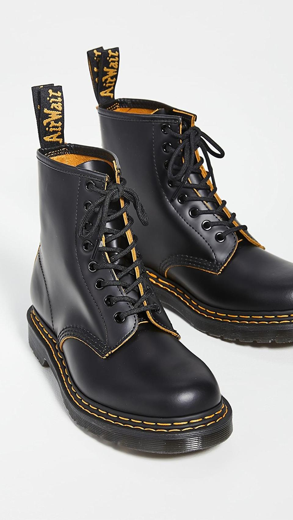 <p><span>Dr. Martens 1460 DS 8 Eye Boots</span> ($160)</p>