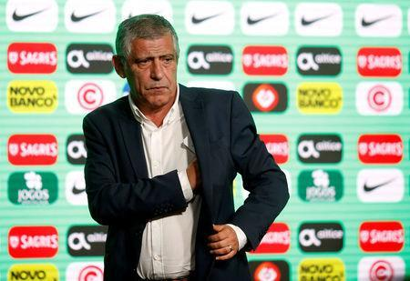Soccer Football - FIFA World Cup - Portugal Coach Fernando Santos Press Conference- Oeiras, Portugal - May 17, 2018 Portugal Coach Fernando Santos after the press conference REUTERS/Pedro Nunes