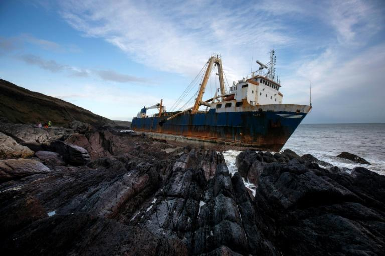 The abandoned 77-metre (250-feet) cargo ship MV Alta washed up outside Ballycotton village