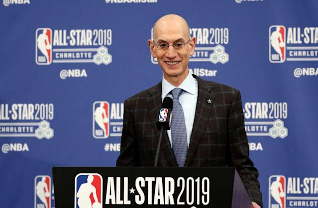 Adam Silver wants a 50-50 gender split among NBA coaches and referees. (AP Photo/Gerry Broome)