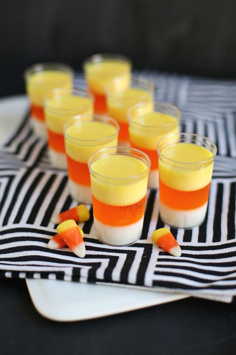 "<p>This love-it-or-hate-it candy is <em>way</em> more popular at parties when it's in jello form.</p><p><em><a href=""http://www.abeautifulmess.com/2014/10/candy-corn-jello-shots.html"" rel=""nofollow noopener"" target=""_blank"" data-ylk=""slk:Get the recipe from A Beautiful Mess »"" class=""link rapid-noclick-resp"">Get the recipe from A Beautiful Mess »</a></em> </p>"