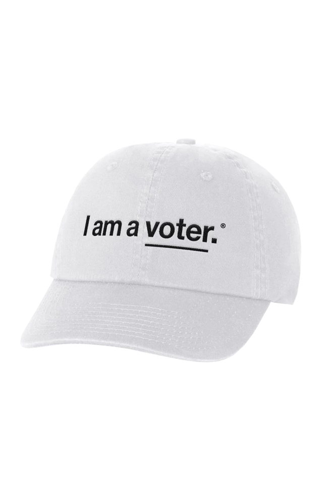 """<p><strong>I Am a Voter</strong></p><p>iamavoter.com</p><p><strong>$35.00</strong></p><p><a href=""""https://iamavoter.com/products/logo-hat-white"""" rel=""""nofollow noopener"""" target=""""_blank"""" data-ylk=""""slk:SHOP IT"""" class=""""link rapid-noclick-resp"""">SHOP IT</a></p><p><a href=""""https://iamavoter.com/"""" rel=""""nofollow noopener"""" target=""""_blank"""" data-ylk=""""slk:I am a voter"""" class=""""link rapid-noclick-resp"""">I am a voter</a> is a non-profit organization working to inspire people to vote and participate in democracy. The org's """"I am a <u>voter</u>"""" hat will help remind people that they, too, can be a voter. After all, a true democracy only exists when we<em> all</em> vote. </p>"""