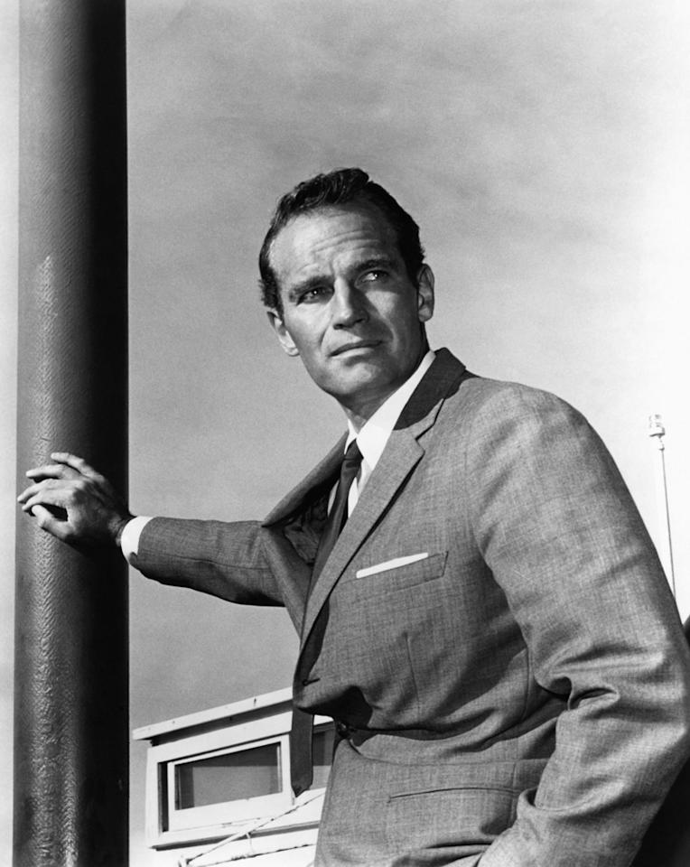 """<b>1923</b> – Oscar winning actor <a href=""""http://movies.yahoo.com/person/charlton-heston/"""">Chartlon Heston</a> was born on this day in Evanston, Illinois. From Moses to the battle of Midway, Heston's career as a commanding male lead provided a one-person Hollywood trek through the pages of world history."""