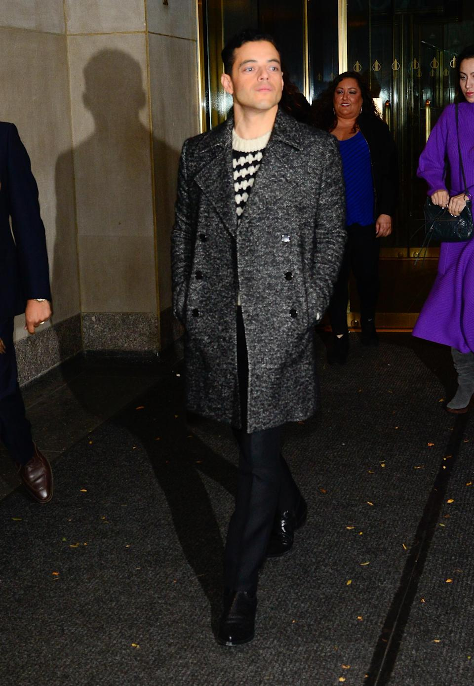 <p>Man of the moment showed his fashion credentials in head to toe Saint Laurent by Anthony Vaccarello <em>[Photo: Getty]</em> </p>