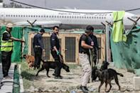 The dogs are now being cared for by the airport security company's training centre (AFP/Karim SAHIB)