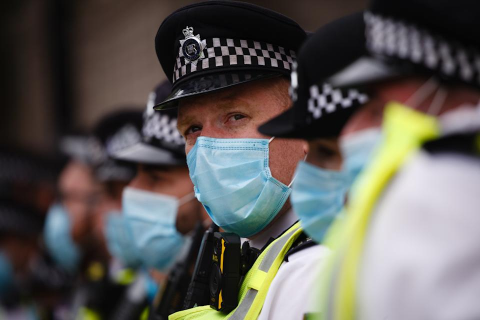 Police will not reason with those who refuse to wear masks without a legitimate reason. (NurPhoto via Getty)