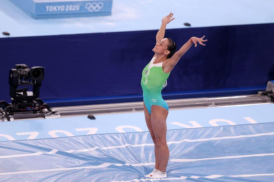 <p>46-year old Oksana Chusovitina celebrated her eighth Olympic Games in Tokyo, having competed in every cycle since Barcelona in 1992. Chusovitina announced that Tokyo 2020 will be the end of her Olympic career. </p>