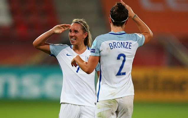 """Jordan Nobbs is a fantastic footballer, the best in the country according to her peers, a future captain of the national team and the creative spark that has ignited England at the European Championship. Yet you probably would not recognise her even if you were sharing a lift. She will never be a millionaire – the very suggestion makes her laugh. Top women players are on £35,000 a year – a fraction of the weekly wage of their top male counterparts. She will not be able to retire when her playing career is over and she will never know a celebrity lifestyle. Perhaps that is why, at the age of 24, the Arsenal player has an unquenchable thirst for improvement. Maybe that is why the women's team have made such vast progress over the last few years. There is a hunger and a determination that, unlike with their male counterparts, has been undimmed by premature financial rewards. It is a comparison Nobbs does not like to dwell on, because it is, as far as she is concerned, a futile debate. Yet, for those who have witnessed so many young Englishmen fail to realise their potential, it remains a pertinent one. Jordan Nobbs in action against Spain Credit: AFP When the Lionesses finished third at the World Cup two years ago, they took a huge step forward. But rather than congratulate themselves on that achievement, they immediately turned their attention to surpassing it at the Euros. With three wins out of three to top their group, they take on France in the quarter-final on Sunday, a team they have not beaten since 1974. But this feels like a different England. """"The hunger is there,"""" said Nobbs, whose father Keith was a no-nonsense, bruising centre-back for Hartlepool United. """"There are a few of us who won the Under-19s Euros and, even as kids, we had that determination and drive. We've kept that with us at senior level, we've not changed since we were kids and I truly believe that is why we are where we are now. We believe in ourselves and we believe in being winners, to push"""