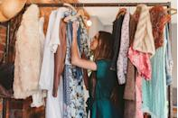 """<p>Holding on to items you don't need or use is one of the biggest ways your home becomes an unorganized mess, and this is especially true with clothes. To keep an eye on what you wear and don't wear, try the hanger trick. </p><p>""""Simply turn your hangers around in your closet. As you wear items, return them to the closet with the hanger facing the normal way,"""" Amanda Clark, owner of <a href=""""https://www.eversoorganized.com/"""" rel=""""nofollow noopener"""" target=""""_blank"""" data-ylk=""""slk:Ever So Organized®️"""" class=""""link rapid-noclick-resp"""">Ever So Organized®️</a>, tells Woman's Day. """"This is a visual way to see what items you actually wear. In reality, most people wear 20% of their clothes 80% of the time."""" </p>"""
