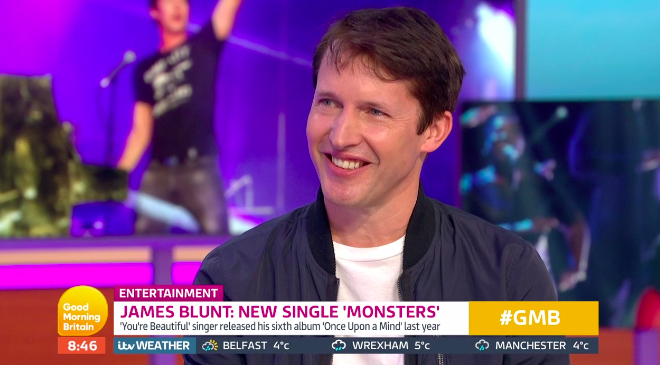 James Blunt revealed his father will undergo a kidney transplant on the day he flies to the other side of the world (Credit: ITV)