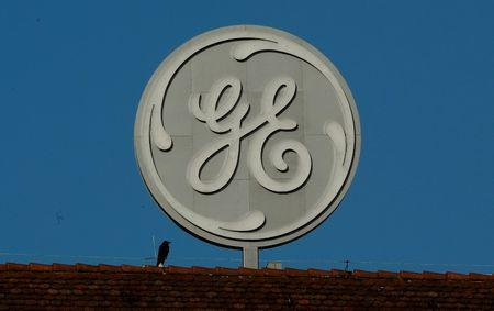 FILE PHOTO: Logo of General Electric is seen in Baden