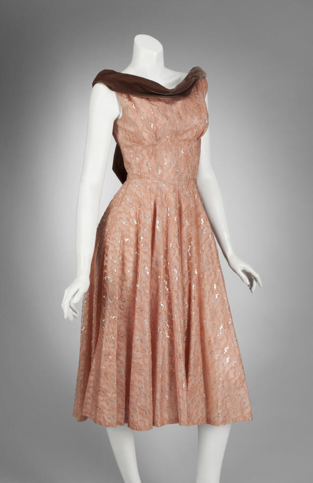 "This undated image released by Julien's Auctions shows Cyndi Lauper's ""Girls Just Want To Have Fun"" video worn dress. This item is part of a star studded auction that includes items from the worlds of Rock 'n Roll, Sports, the Royal family and political memorabilia. Items are scheduled to be auctioned on Thursday, Dec. 1, 2011 through Sunday, Dec. 4 at the Julien's Auctions gallery in Beverly Hills. (AP Photo/Julien's Auctions)"