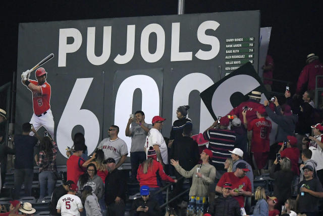 Albert Pujols could be the last member of the 600 home run club for a long time. (AP Photo/Mark J. Terrill)
