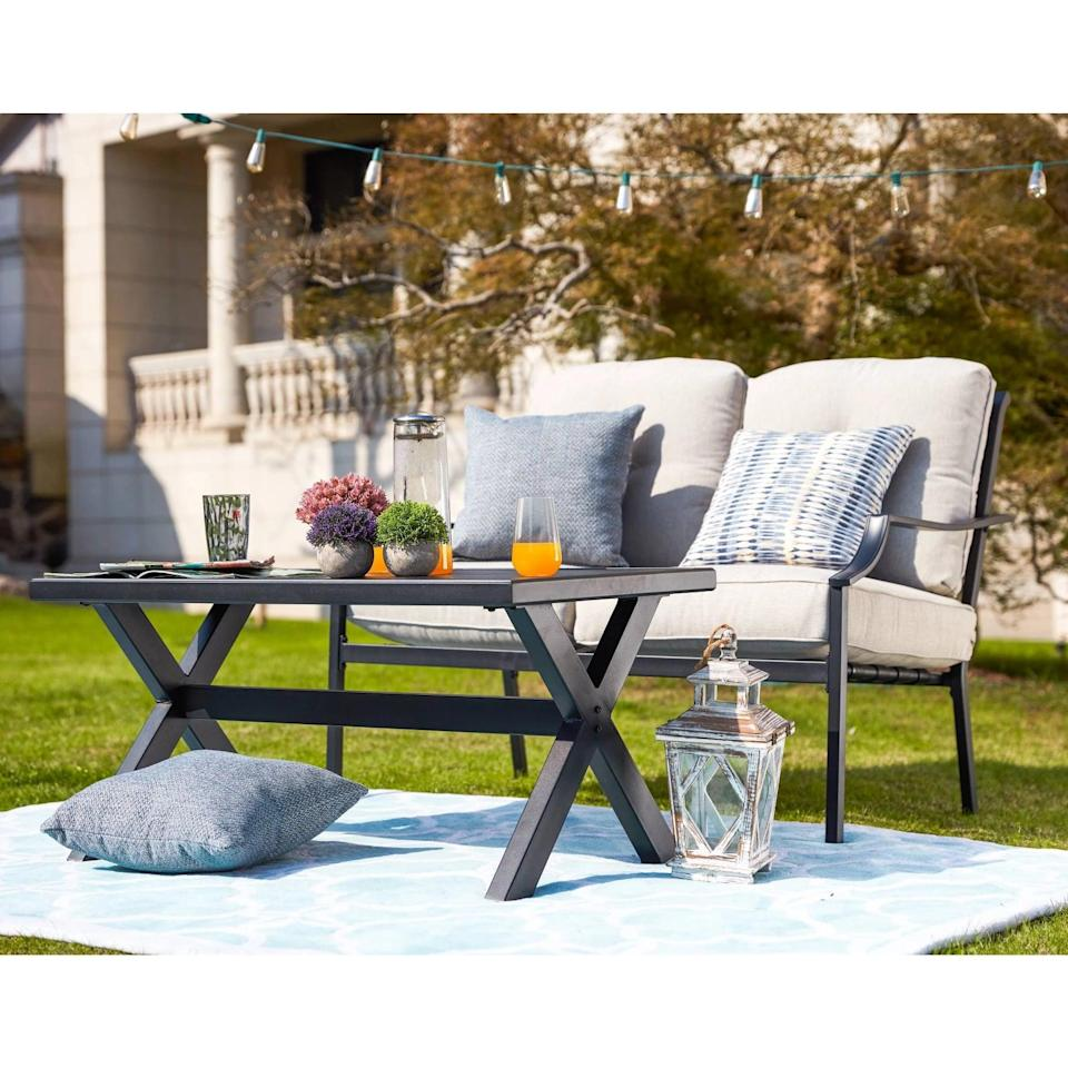 <p>Sit outside and enjoy a few drinks on the <span>Patio Seating Set</span> ($410).</p>