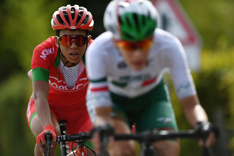 Siham Es-Saddy of Morocco during the women's road race at the UCI Road World Championships