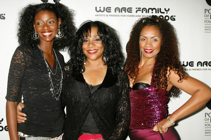 Sister Sledge: Joni (centre) with other family members in 2006: REUTERS