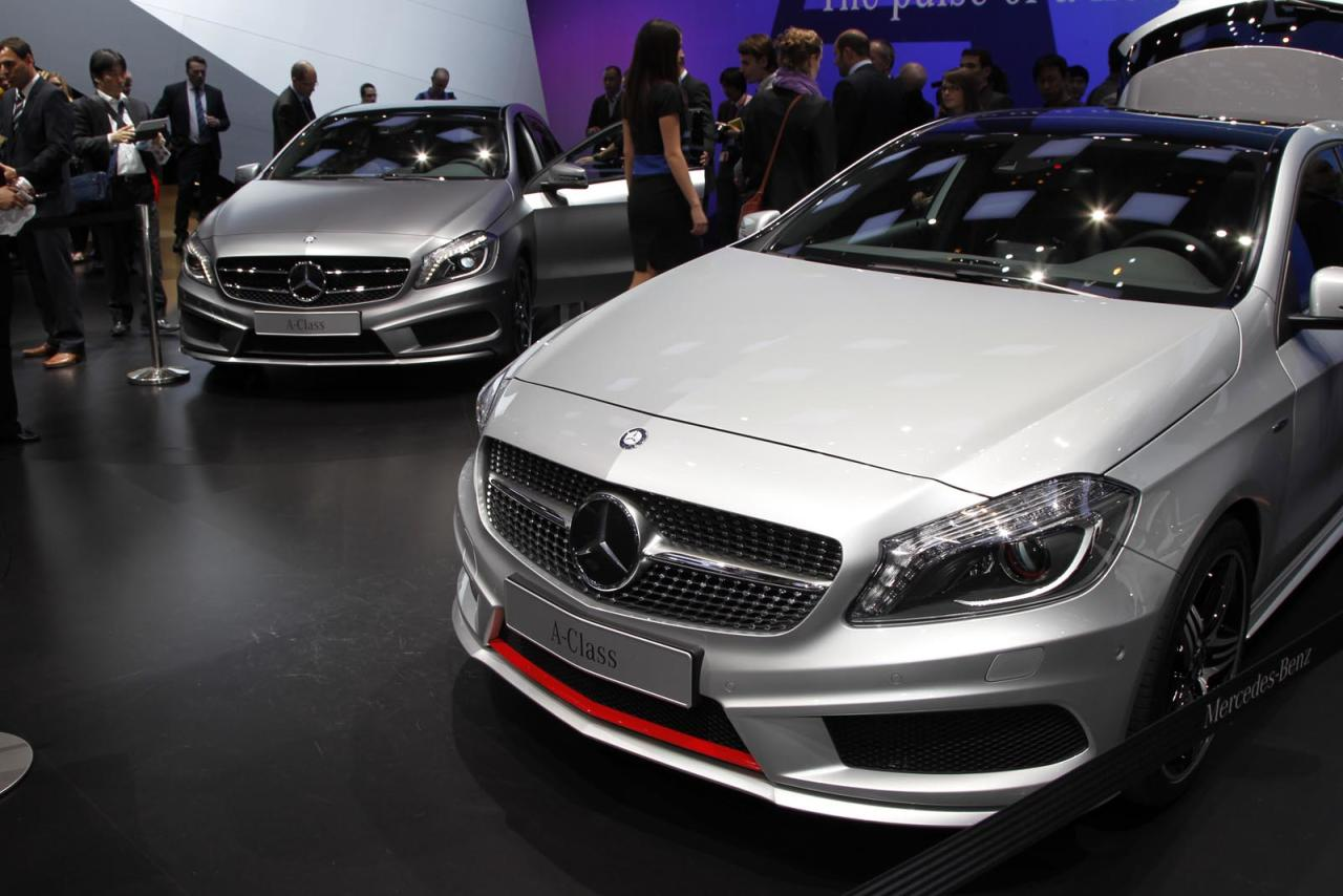 "One of the lesser-known secrets of the automotive industry is that most ""all-new"" models are anything but; making money requires reusing as many parts as often as possible. Mercedes-Benz says that's not the case with the new A-Class hatchbacks unveiled at the Geneva Motor Show, which started with a blank screen and ended with a front-wheel-drive hatchback that lets the driver talk to Siri from behind the wheel -- and it's coming to America. In typical continental fashion, Mercedes offers at least six engine choices, from 115 hp up to 211 hp, all routed through either a six-speed manual or seven-speed automatic. Every engine comes with start-stop, turbocharging and the other roster of efficiency tricks now standard on new models. Unlike the cheaper beam suspension in lower-end hatches, Mercedes used a more-expensive four-link setup so that it could offer all-wheel-drive versions -- and potentially an AMG-designed edition as well. Mercedes says the first A-Class should arrive stateside in 2013."