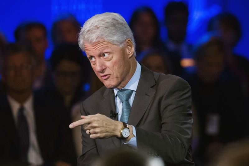 Former U.S. President Bill Clinton speaks during an interview at the Clinton Global Initiative (CGI) in New York September 25, 2013. The CGI was created by Bill Clinton in 2005 to gather global leaders to discuss solutions to the world's problems. REUTERS/Lucas Jackson (UNITED STATES - Tags: POLITICS)
