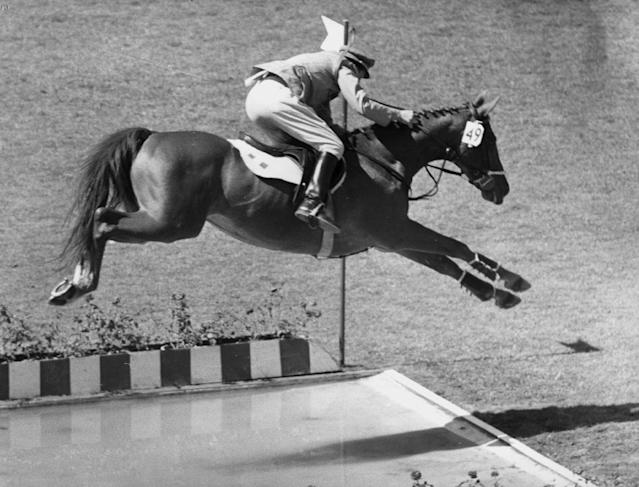 Once featured in the equestrian program, the horse long jump no longer exists.