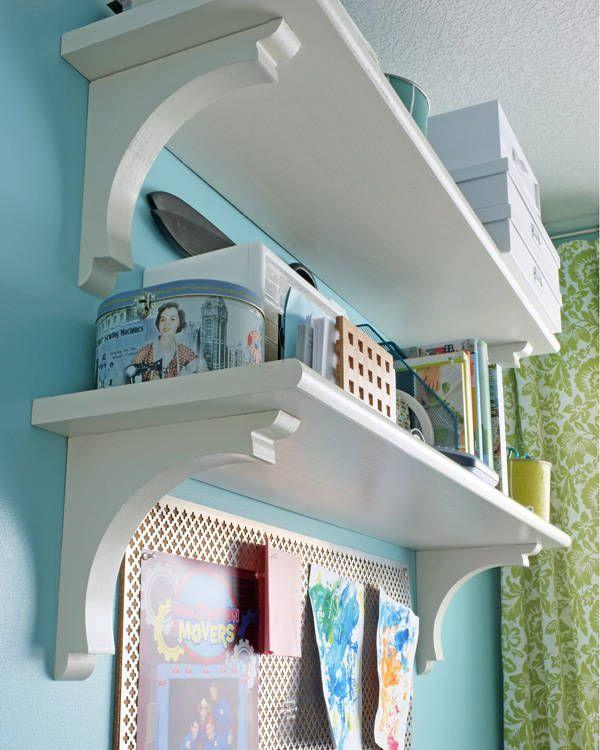 "<p>Shelves can be pricey, so a cute, customizable DIY option is totally welcome. These shelves are an inexpensive option when you're seeking out lots of wall storage.</p><p>Get the tutorial at <a href=""https://schoolofdecorating.com/2012/01/stair-tread-shelves/"" rel=""nofollow noopener"" target=""_blank"" data-ylk=""slk:School of Decorating"" class=""link rapid-noclick-resp"">School of Decorating</a>.<br></p>"