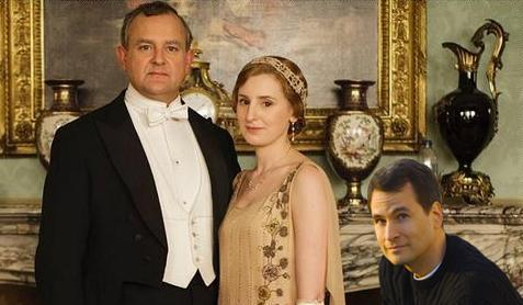 Downton Abbey promotional photo with David Pogue