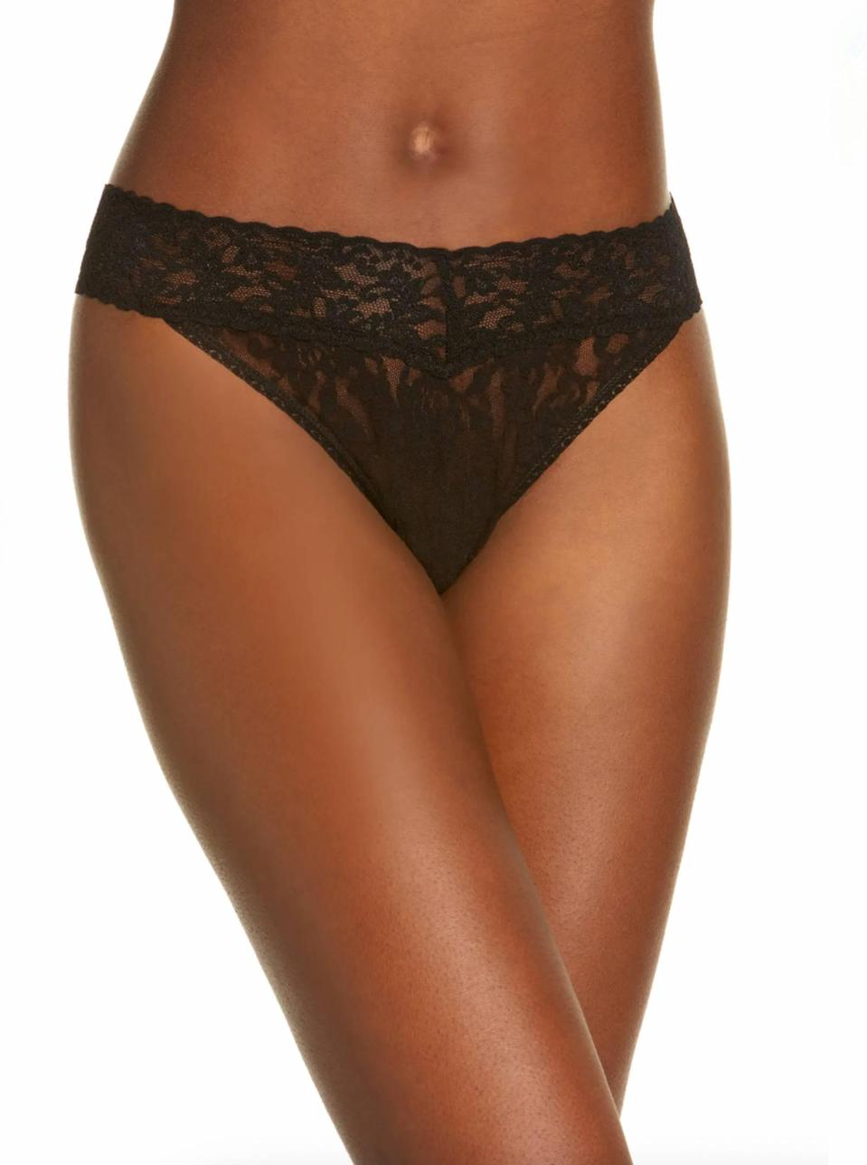"""There's a reason why people consistently rave about <a href=""""https://www.glamour.com/story/hanky-panky-high-waisted-retro-thong-review?mbid=synd_yahoo_rss"""" rel=""""nofollow noopener"""" target=""""_blank"""" data-ylk=""""slk:Hanky Panky's stretch lace thongs"""" class=""""link rapid-noclick-resp"""">Hanky Panky's stretch lace thongs</a>: They're sexy but still practical for wearing under a number of not-so-forgiving bottoms. Best part? They don't lose shape even after many washes. $22, Nordstrom. <a href=""""https://www.nordstrom.com/s/hanky-panky-original-rise-thong/2856431"""" rel=""""nofollow noopener"""" target=""""_blank"""" data-ylk=""""slk:Get it now!"""" class=""""link rapid-noclick-resp"""">Get it now!</a>"""