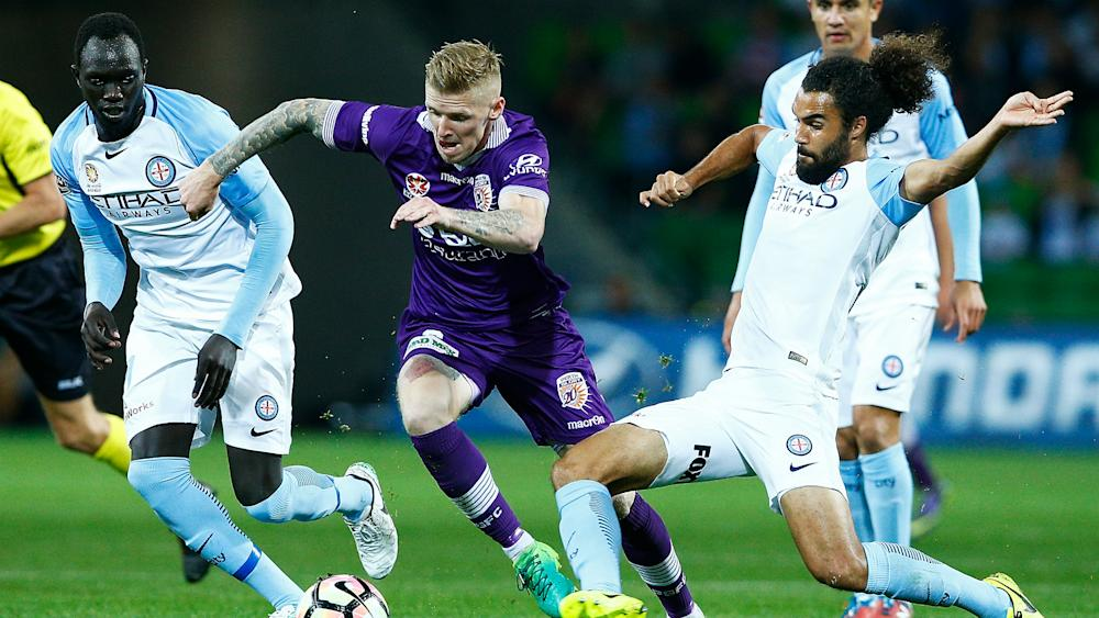 Andy Keogh Melbourne City v Perth Glory A-League 23042017