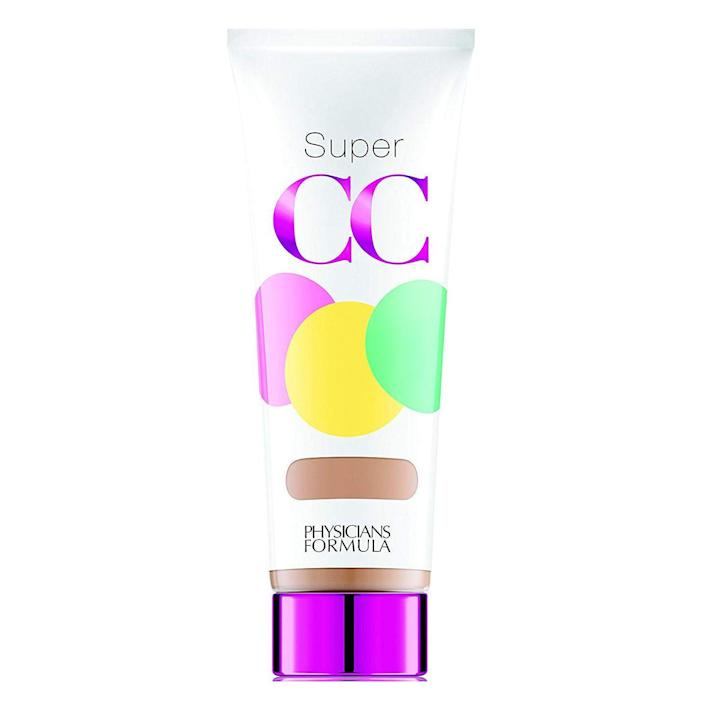 """<p><strong>Physicians Formula</strong></p><p>amazon.com</p><p><strong>$11.99</strong></p><p><a href=""""https://www.amazon.com/dp/B00HUA7UZG?tag=syn-yahoo-20&ascsubtag=%5Bartid%7C10055.g.30611666%5Bsrc%7Cyahoo-us"""" rel=""""nofollow noopener"""" target=""""_blank"""" data-ylk=""""slk:Shop Now"""" class=""""link rapid-noclick-resp"""">Shop Now</a></p><p>Get """"your skin but better"""" coverage with this sheer drugstore formula. Reviewers say that the CC cream <strong>feels super-lightweight on their skin, while still noticeably perfecting their skin</strong>. We like that it packs all the priming, moisturizing, skin-perfecting, and SPF benefits into one affordable product. </p>"""