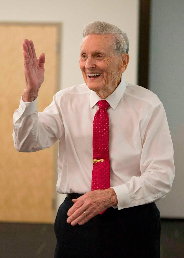After he retired in 1994, the Rev. Robert H. Meneilly remained active in the community.