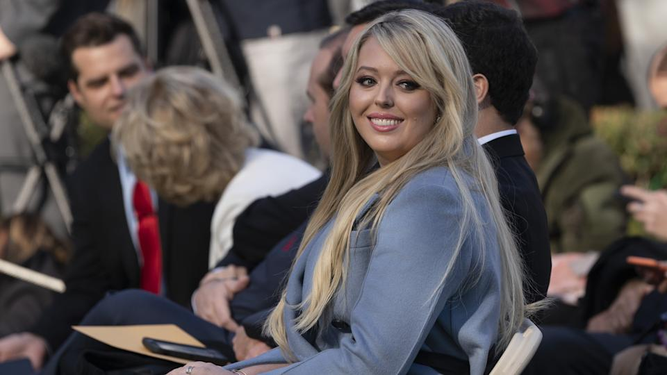 Mandatory Credit: Photo by Shutterstock (10486302f)Tiffany Trump attends the National Thanksgiving Turkey presentation in the Rose Garden of the White House in Washington, DC.