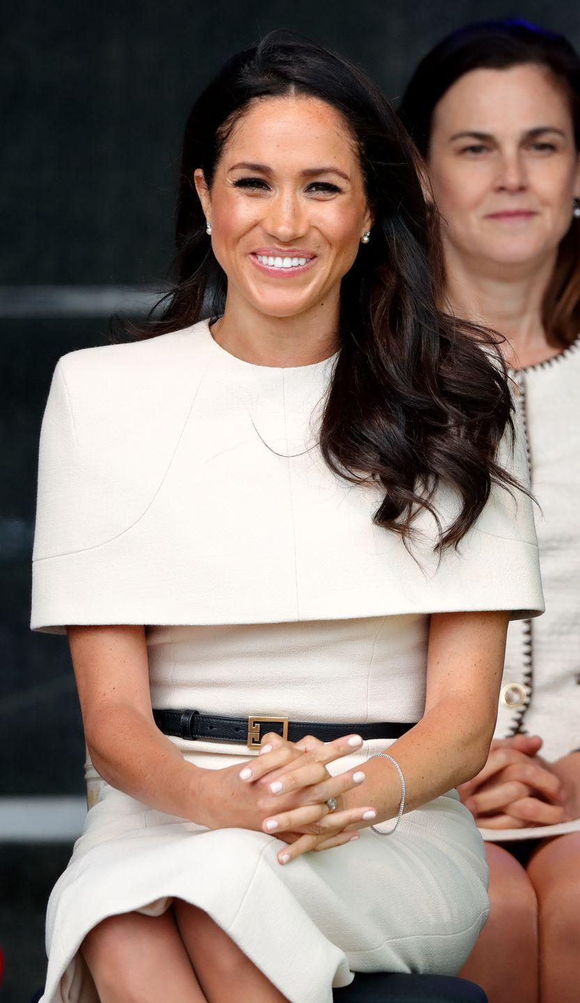 <p>All female members of the royal family are instructed to keep their nail colors as natural as possible—AKA neutral or light pink. There are a few exceptions to this rule (see: Meghan at the British Fashion Awards), but generally the women try to adhere to this one.</p>
