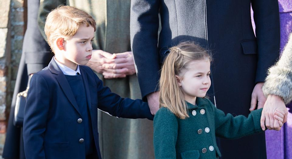 """Prince William took Prince George and Princess Charlotte on a """"dress rehearsal"""" ahead of Sandringham church visit on Christmas Day [Image: Getty]"""