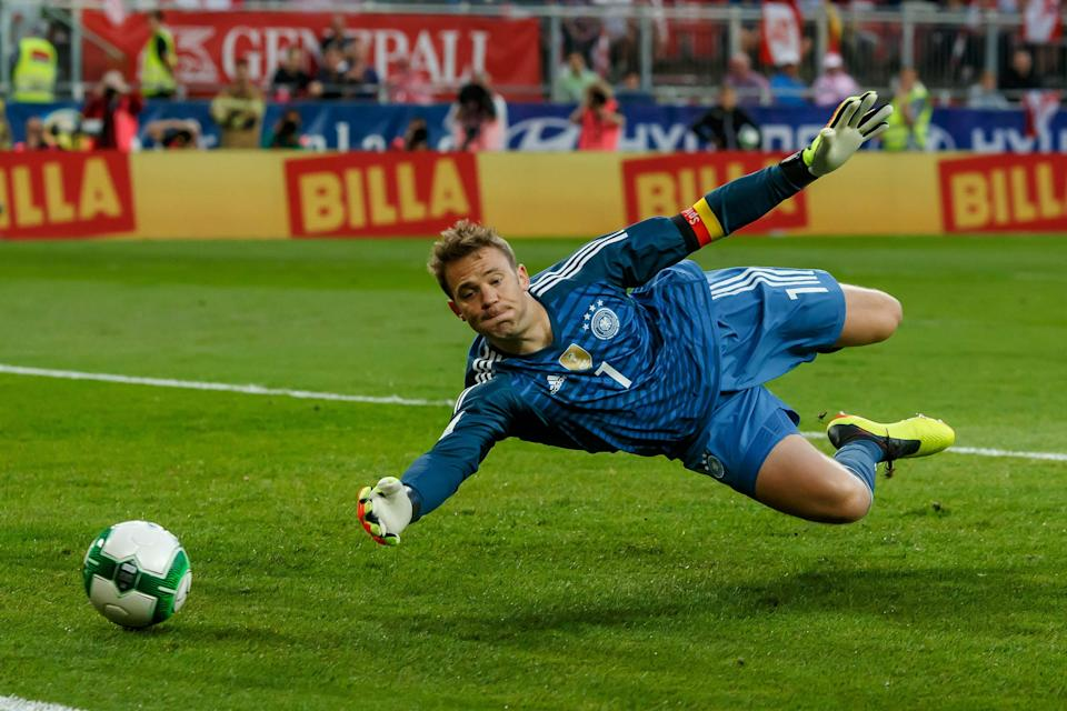 Manuel Neuer and defending World Cup champion Germany might not have such a great month in Russia. (Getty)
