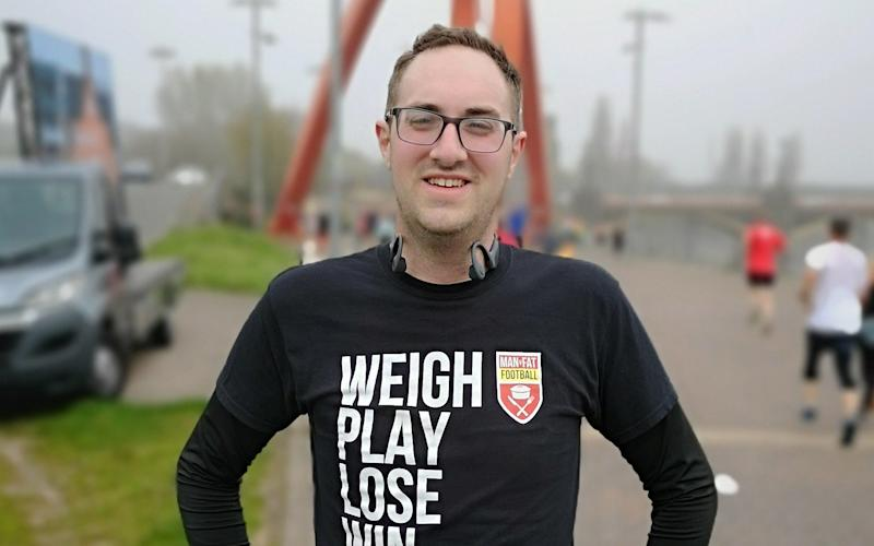 James Stanford lost 40kg over three years on the Man v Fat programme