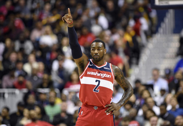"<a class=""link rapid-noclick-resp"" href=""/nba/players/4716/"" data-ylk=""slk:John Wall"">John Wall</a> responded to a report suggesting his partying was a problem. (AP)"