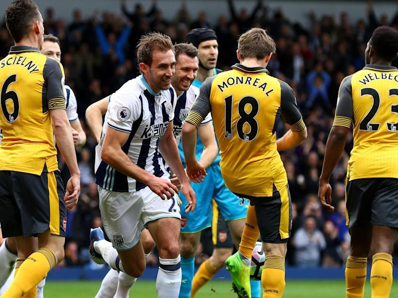 Craig Dawson scored twice to pile yet more misery on Wenger and Arsenal (Getty)