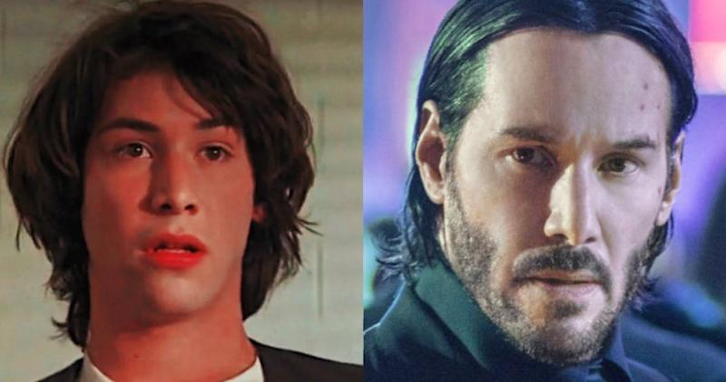 Keanu Reeves Sports A Fresh-Faced Look While Filming 'Bill